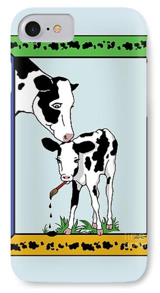 Cow Artist Cow Art II Phone Case by Audra D Lemke