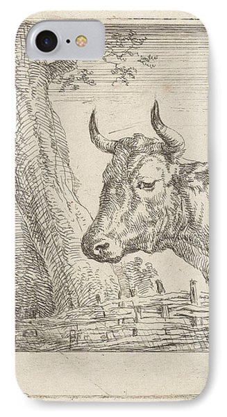 Cow At A Willow Fence, Aert Schouman, Paulus Potter IPhone Case
