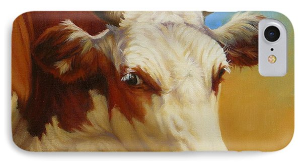 Cow Face IPhone Case by Margaret Stockdale