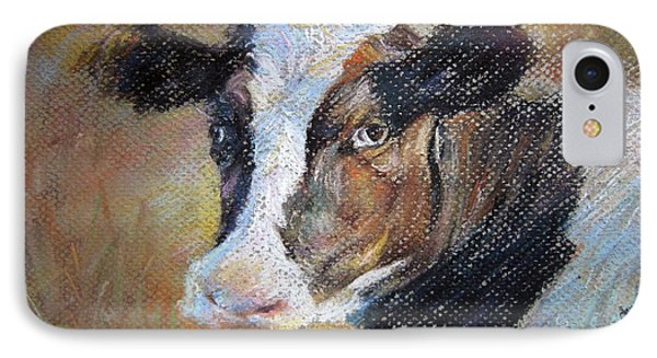 IPhone Case featuring the painting cow by Jieming Wang