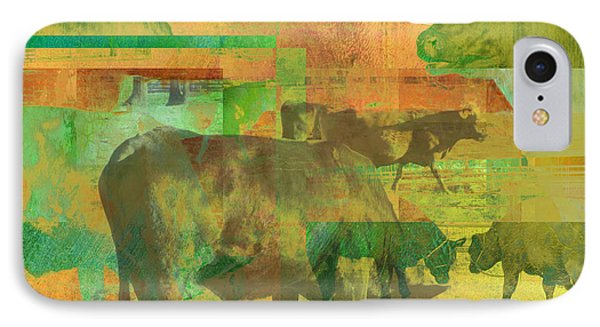 Cow Pasture Collage Phone Case by Ann Powell