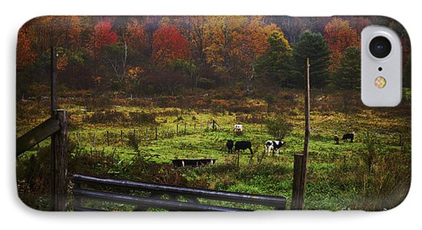 IPhone Case featuring the photograph Cow Pasture In Autumn by Debra Fedchin