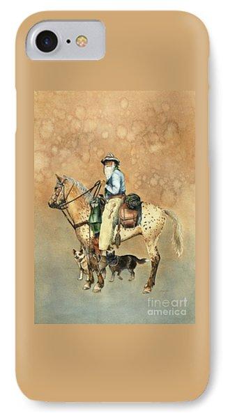Cowboy And Appaloosa Phone Case by Nan Wright