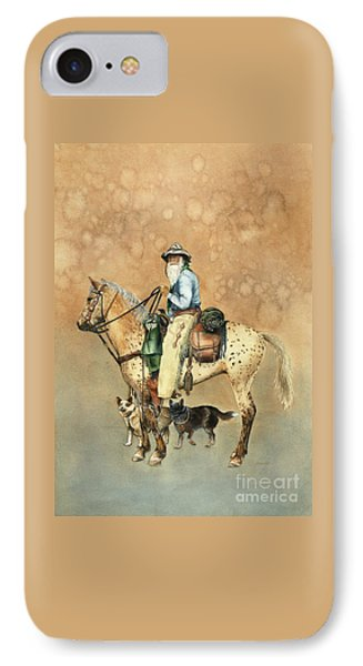 Cowboy And Appaloosa IPhone Case by Nan Wright