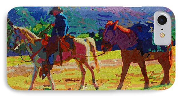 IPhone Case featuring the painting Cowboy And Pack Mule 2 by Thomas Bertram POOLE