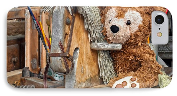 IPhone Case featuring the photograph Cowboy Bear by Thomas Woolworth