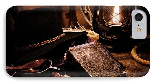 Cowboy Bible Phone Case by Olivier Le Queinec