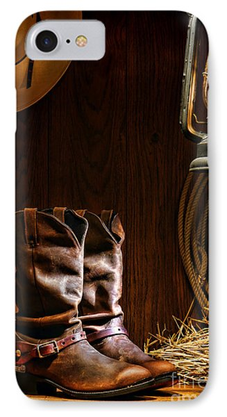 Cowboy Boots At The Ranch IPhone Case