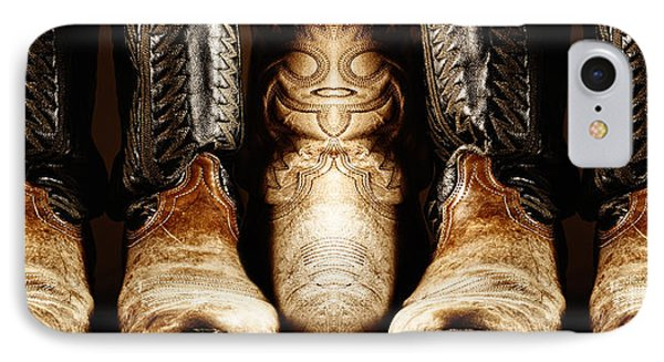 IPhone Case featuring the photograph Cowboy Boots Composite by Lincoln Rogers