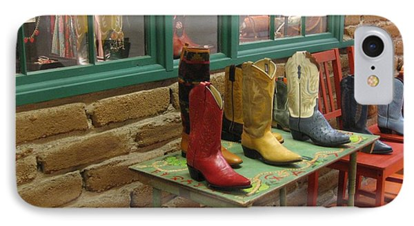 IPhone Case featuring the photograph Cowboy Boots by Dora Sofia Caputo Photographic Art and Design