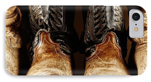 Cowboy Boots In High Contrast Light IPhone Case