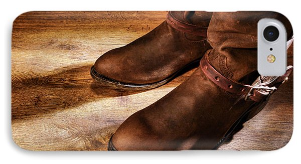 Cowboy Boots On Saloon Floor Phone Case by Olivier Le Queinec