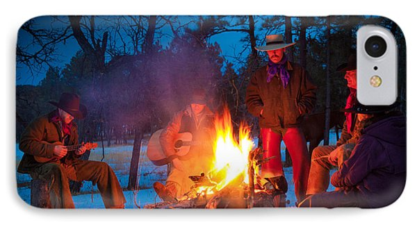 Cowboy Campfire IPhone Case by Inge Johnsson