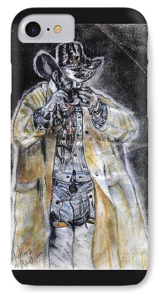 Cowboy Drinking Coffee IPhone Case