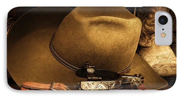 IPhone Case featuring the photograph Cowboy Gear by Lincoln Rogers