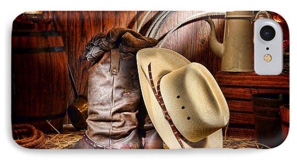 Cowboy Gear IPhone Case by Olivier Le Queinec