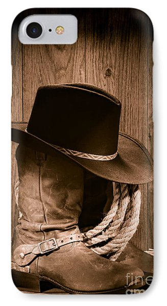 Cowboy Hat And Boots IPhone Case