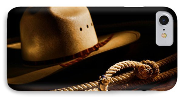 Cowboy Hat And Lasso IPhone Case by Olivier Le Queinec
