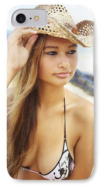 Cowboy Hat At The Beach Phone Case by Kicka Witte