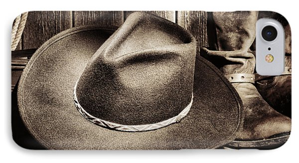 Cowboy Hat On Floor IPhone Case