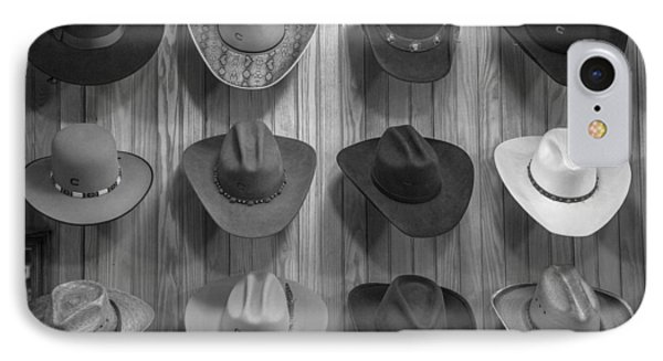 Cowboy Hats On Wall In Nashville  IPhone Case by John McGraw