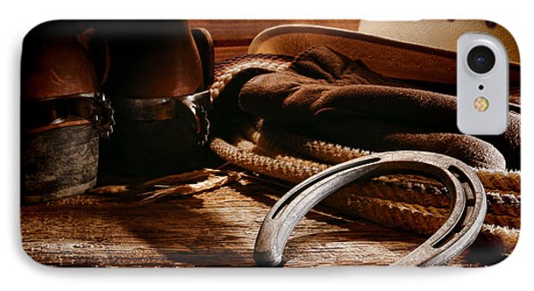 Cowboy Horseshoe Phone Case by Olivier Le Queinec