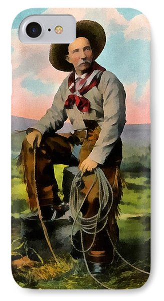 Cowboy King Of The Plains IPhone Case by Raphael Tuck And Sons