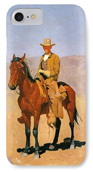 Cowboy Mounted On A Horse Phone Case by Frederic Remington