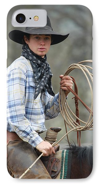 Cowboy Signature 13 IPhone Case by Diane Bohna