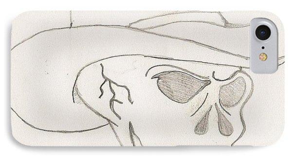 Cowboy Skull Phone Case by Scott Williams