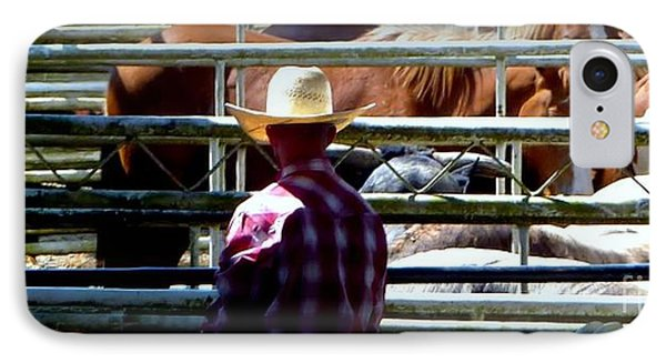 IPhone Case featuring the photograph Cowboys Corral by Susan Garren