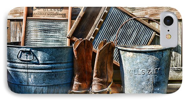 Cowboys Have Laundry Too IPhone Case by Paul Ward