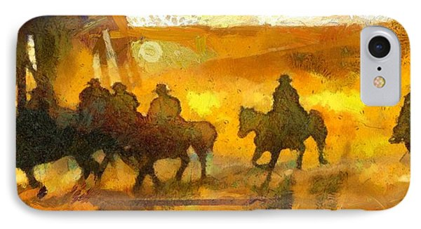 Cowboys Love To Ride IPhone Case by Carrie OBrien Sibley