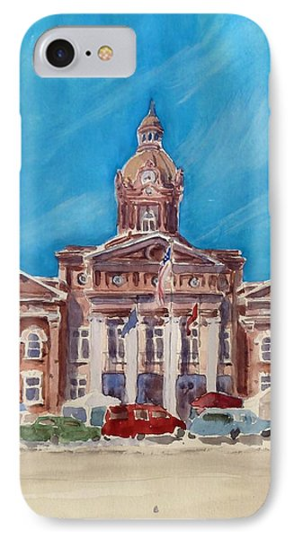 Coweta County Courthouse Painting IPhone Case by Sally Simon