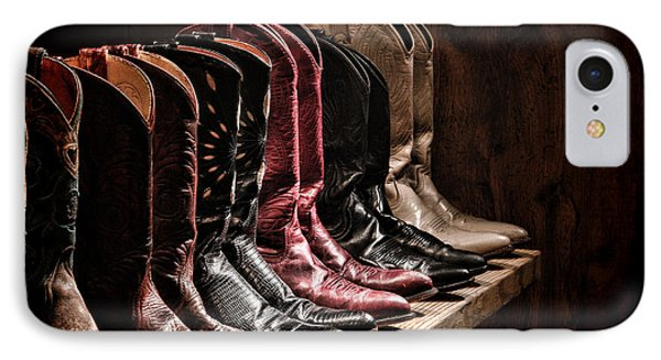 Cowgirl Boots Collection Phone Case by Olivier Le Queinec