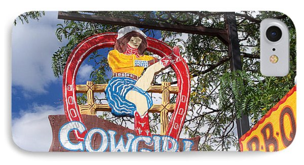Cowgirl Cafe IPhone Case by Sylvia Thornton