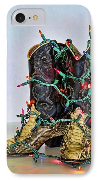 Cowgirl Christmas Phone Case by Kenny Francis