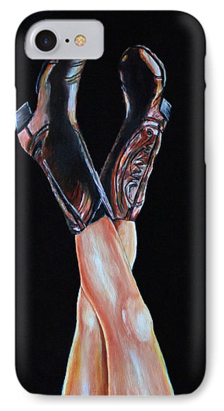 IPhone Case featuring the painting Cowgirl Legs by Jennifer Godshalk