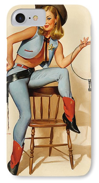 Cowgirl Pin-up Girl IPhone Case