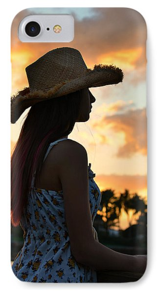 Cowgirl Sunset IPhone Case by Laura Fasulo