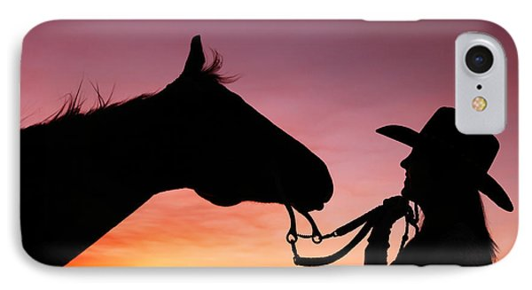 Cowgirl Sunset IPhone Case by Todd Klassy