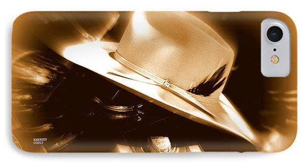 IPhone Case featuring the photograph Cowgirls And Harley by Karen Kersey