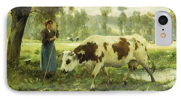 Cows At Pasture  Phone Case by Julien Dupre