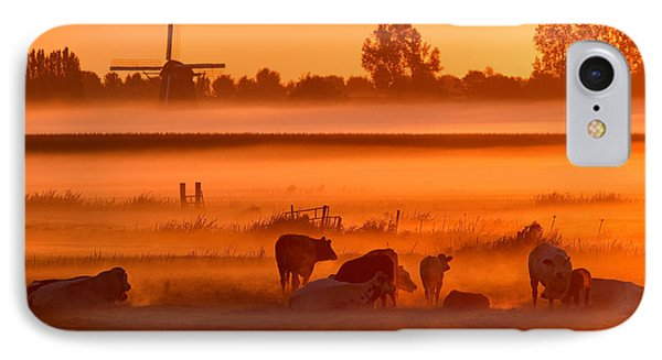 Cows In The Mist IPhone Case by Roeselien Raimond
