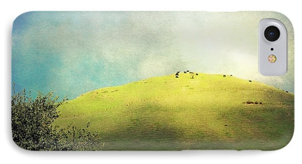 Cows On A Hill IPhone Case by Ellen Cotton