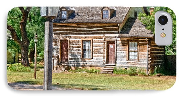Cowtown Log Cabin IPhone Case