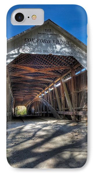 Cox Ford Covered Bridge IPhone Case by Alan Toepfer