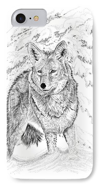 Coyote IPhone Case by Carl Genovese