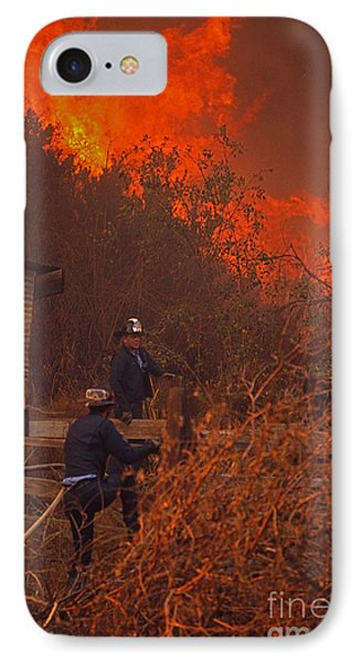 Coyote Fire - 1969 IPhone Case by J L Woody Wooden