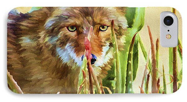 Coyote In The Aloe IPhone Case
